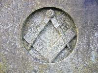 Freimaurer-Zeichen: Zirkel und Winkelmass - Quelle: Wikipedia