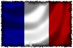 flagge frankreich angerissen