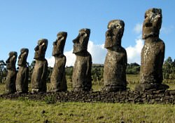 easter island stone statues