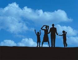 family blue sky