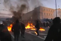 athens protests feb 2012
