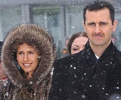 assad with wife moscow
