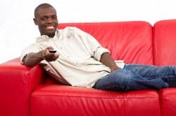 black man sofa