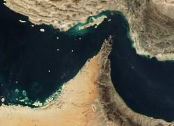 strasse von hormus satellitenbild