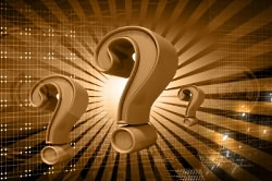 question marks gold color