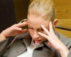 burnout woman blond