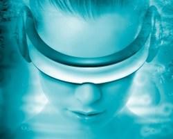 virtual reality woman face
